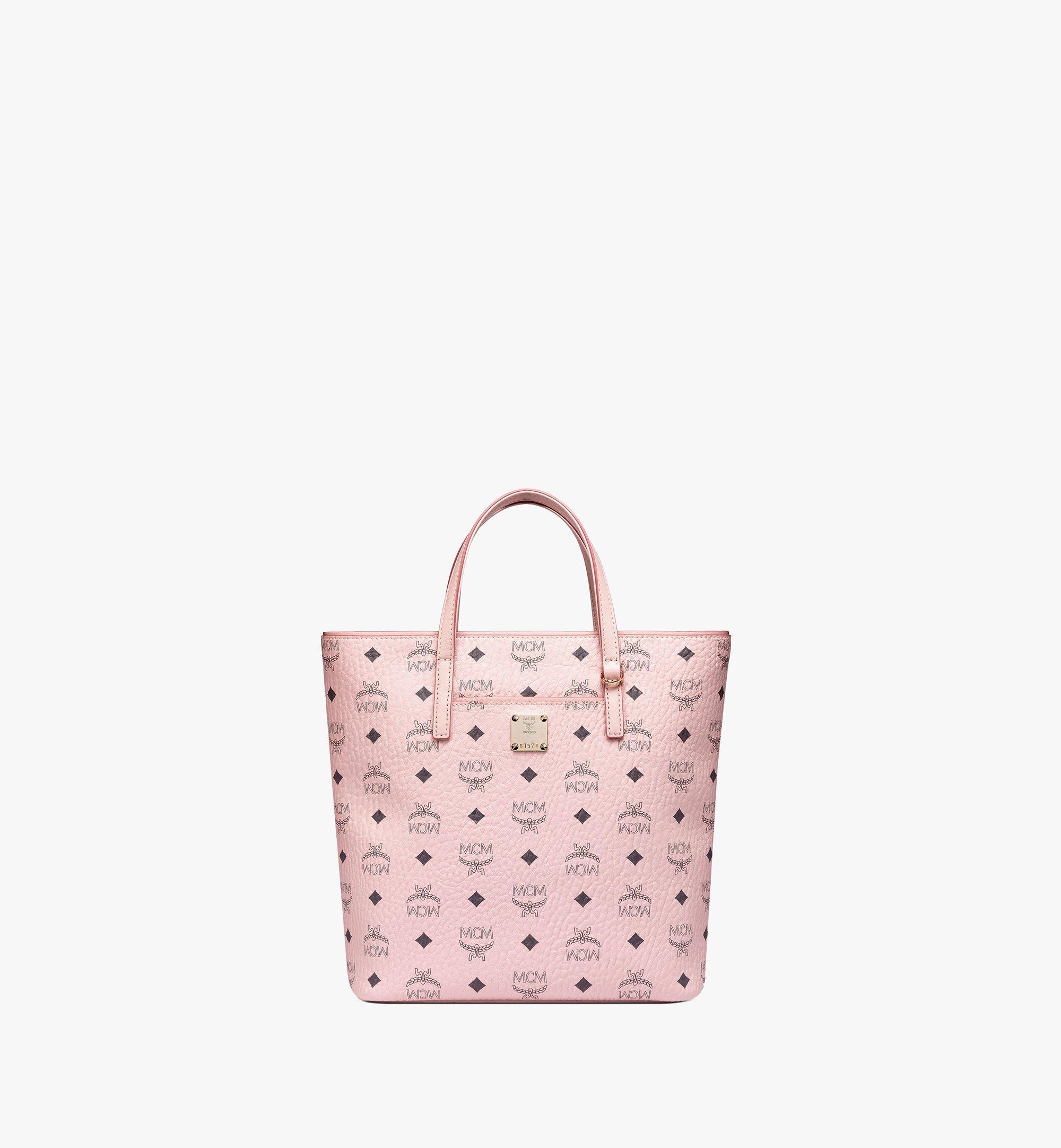 Small Anya Shopper in Visetos Leoforal Powder Pink | MCM® DE