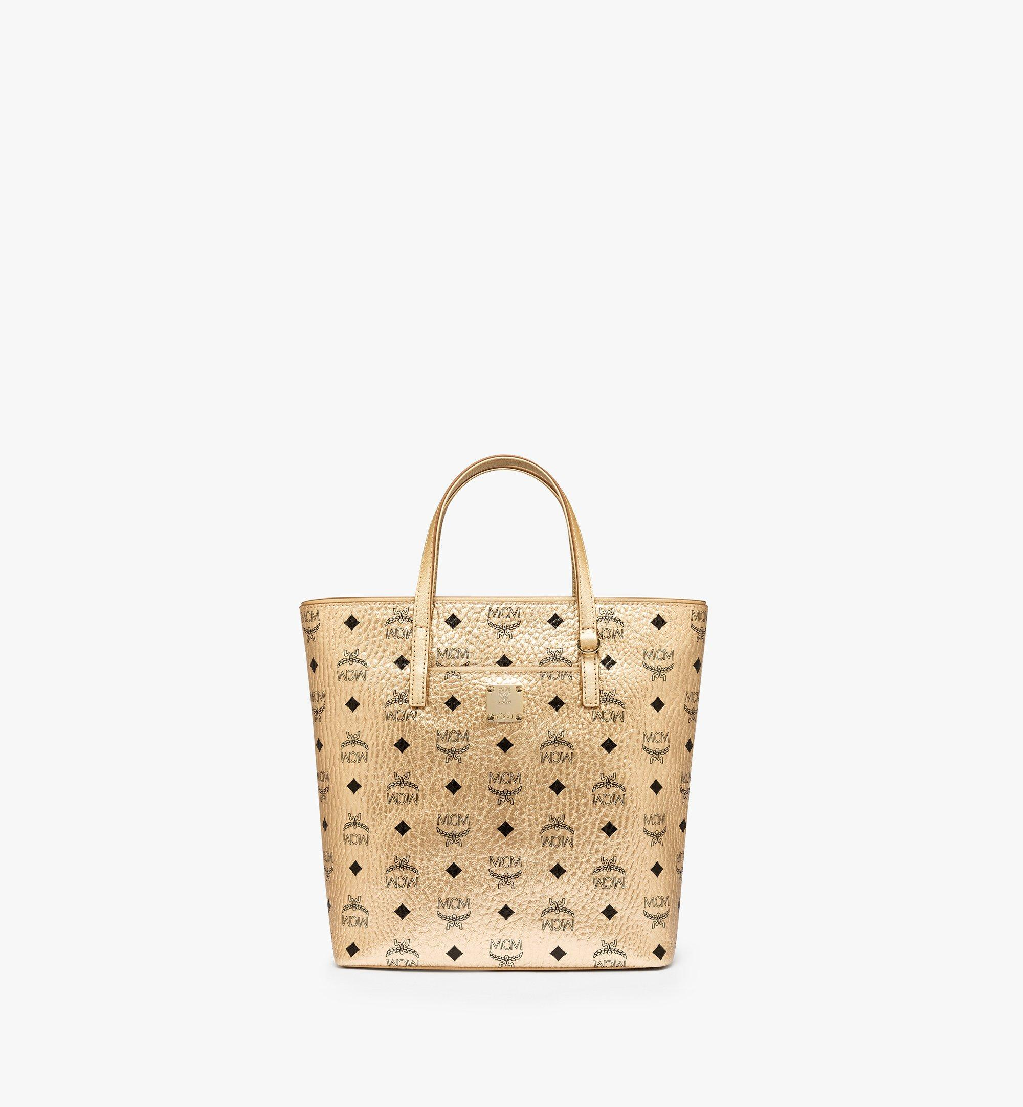 Small Anya Shopper in Visetos Berlin Gold | MCM® DE