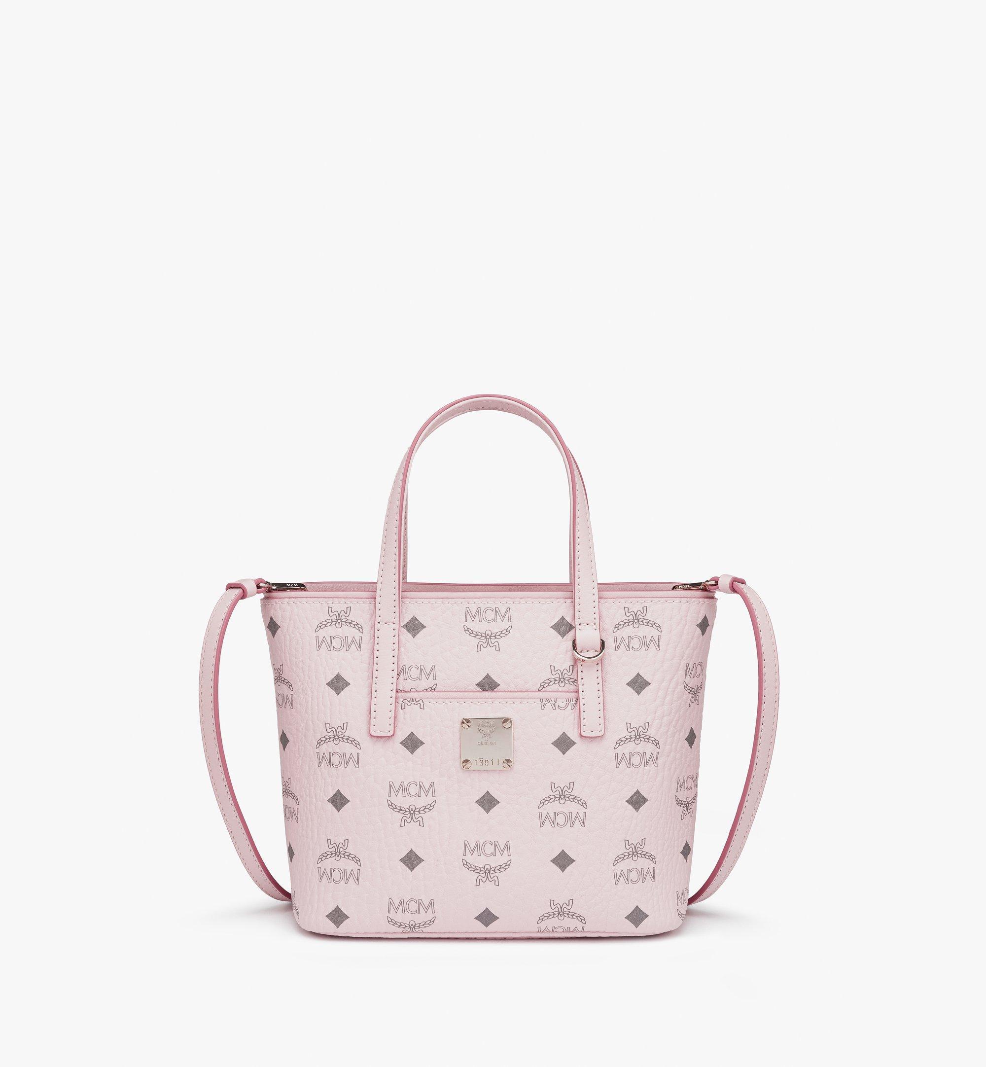Mini Anya Shopper in Visetos Powder Pink   MCM® DE