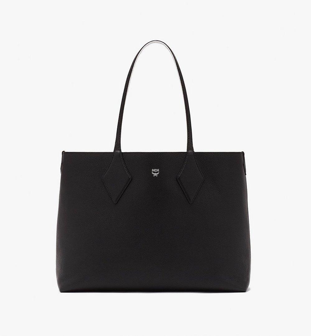 MCM Reversible Shopper in Tani Leather Black MWPASXS01BK001 Alternate View 1