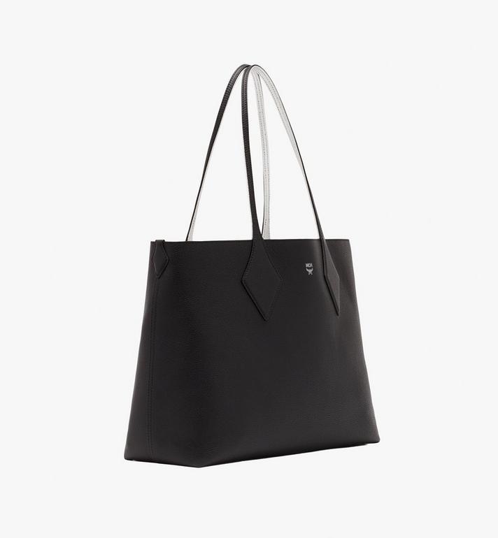 MCM Reversible Shopper in Tani Leather Black MWPASXS01BK001 Alternate View 3