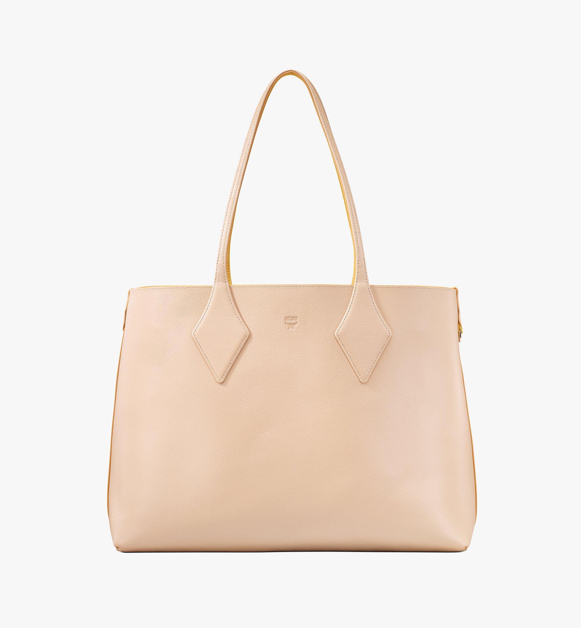 MCM Reversible Shopper in Tani Leather Pink MWPASXS01YQ001 Alternate View 2