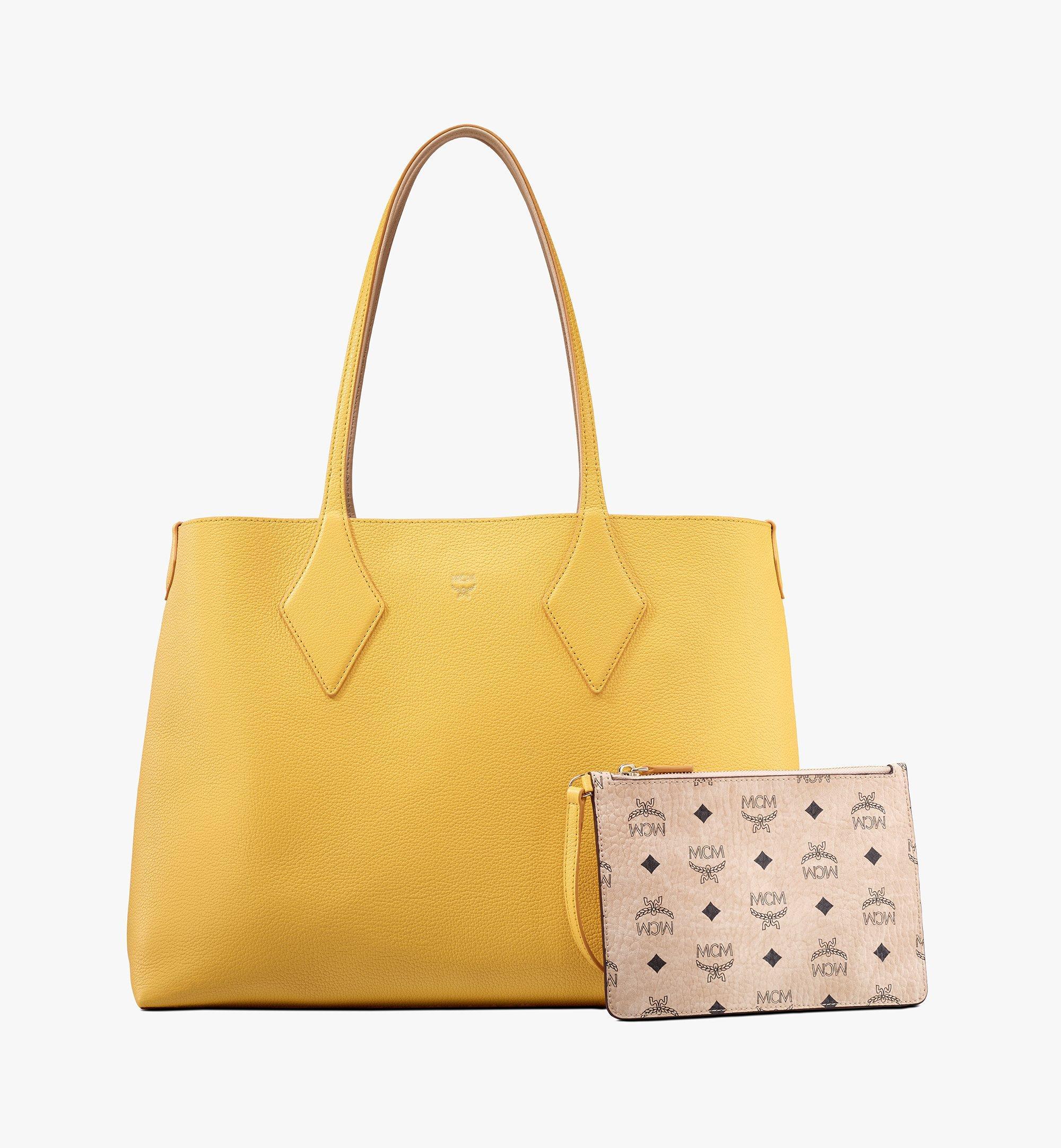 MCM Reversible Shopper in Tani Leather Pink MWPASXS01YQ001 Alternate View 3