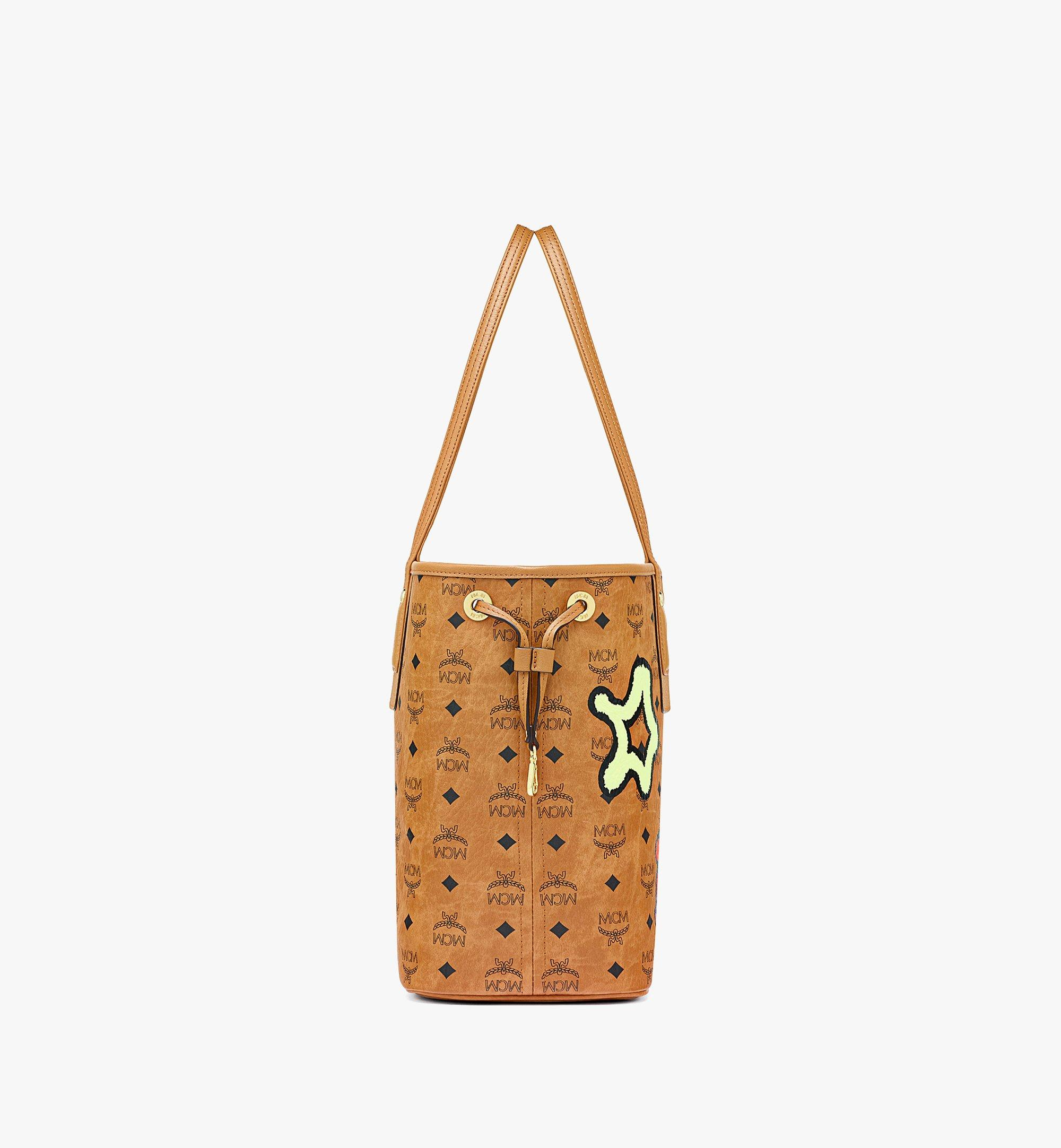 MCM Upcycling Project Reversible Liz Shopper in Visetos Cognac MWPBAUP02CO001 Alternate View 1
