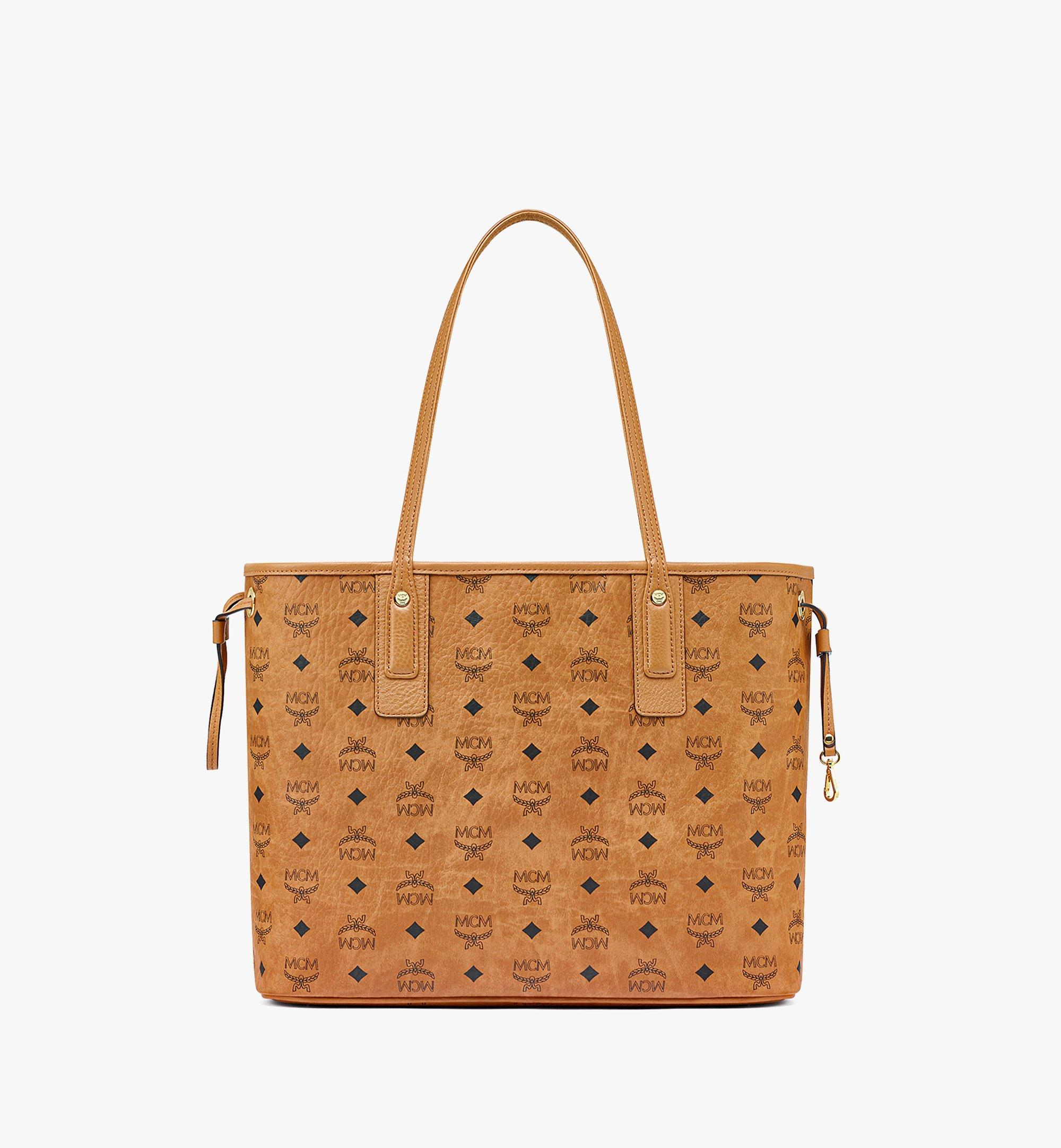 MCM Upcycling Project Reversible Liz Shopper in Visetos Cognac MWPBAUP02CO001 Alternate View 3