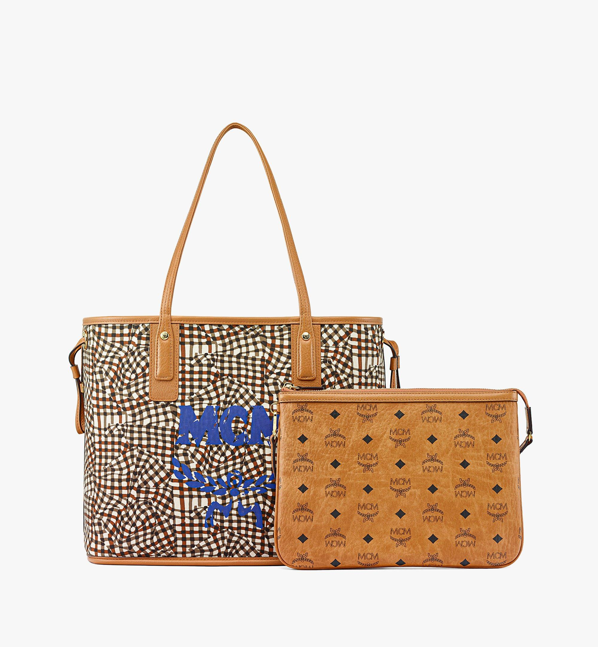 MCM Upcycling Project Reversible Liz Shopper in Visetos Cognac MWPBAUP02CO001 Alternate View 4
