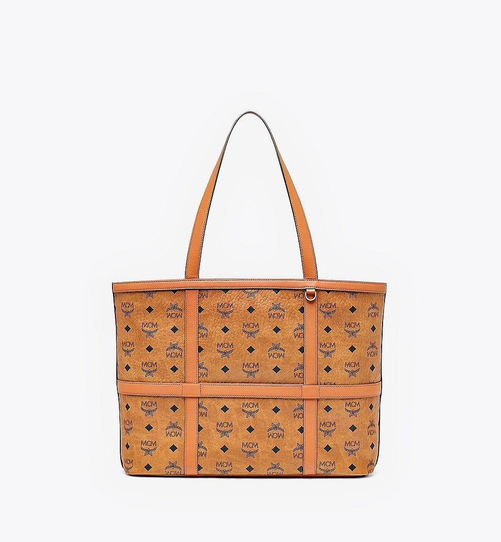 MCM Delmy Shopper in Visetos Cognac MWPBSER01CO001 Alternate View 1