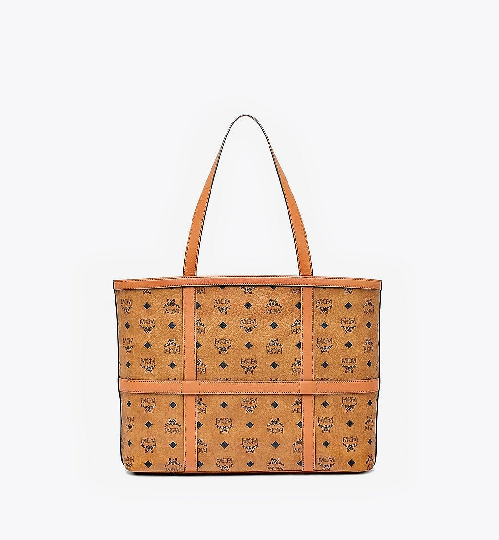 MCM Delmy Shopper in Visetos Cognac MWPBSER01CO001 Alternate View 3