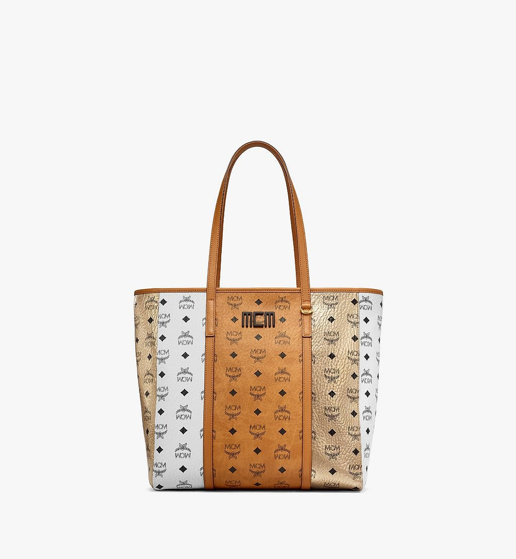 MCM Toni Shopper in Visetos Mix Cognac MWPBSTN01CO001 Alternate View 1