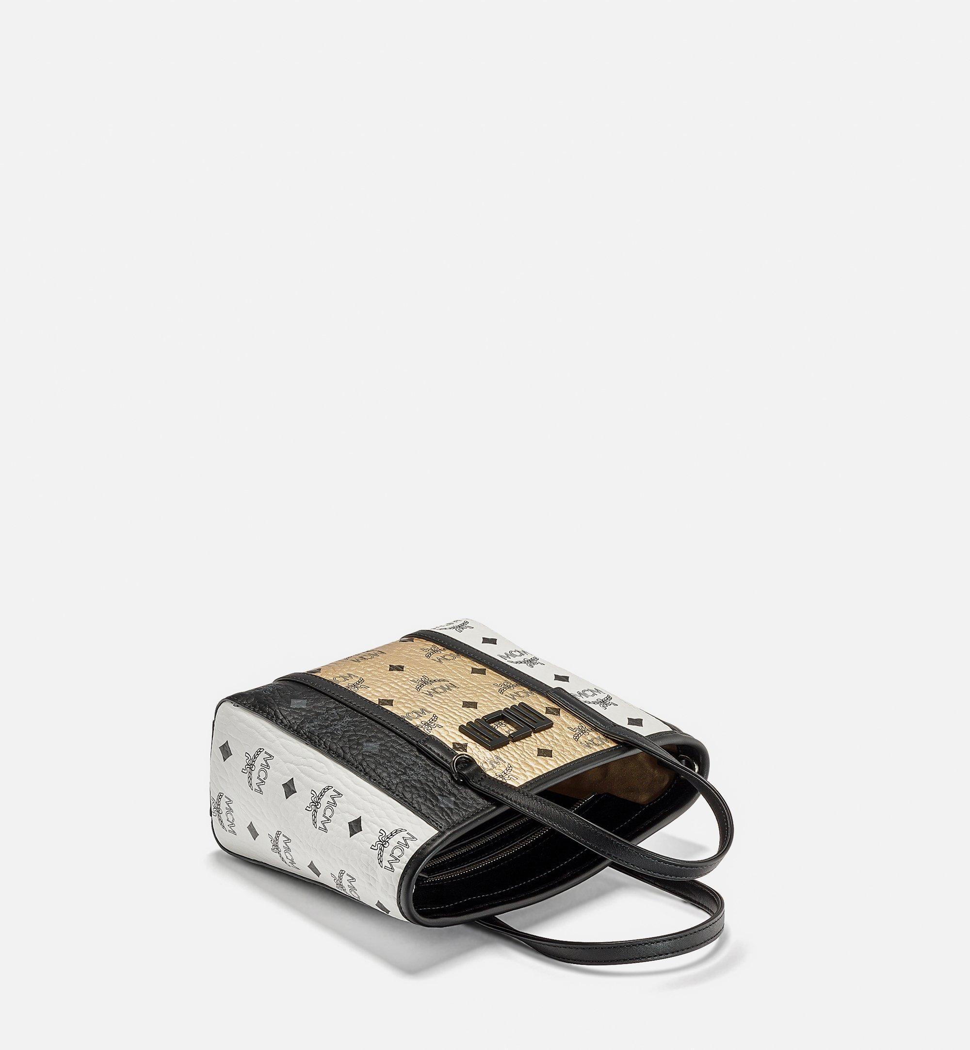 MCM Toni Visetos拼接购物袋 Gold MWPBSTN02T1001 更多视角 2