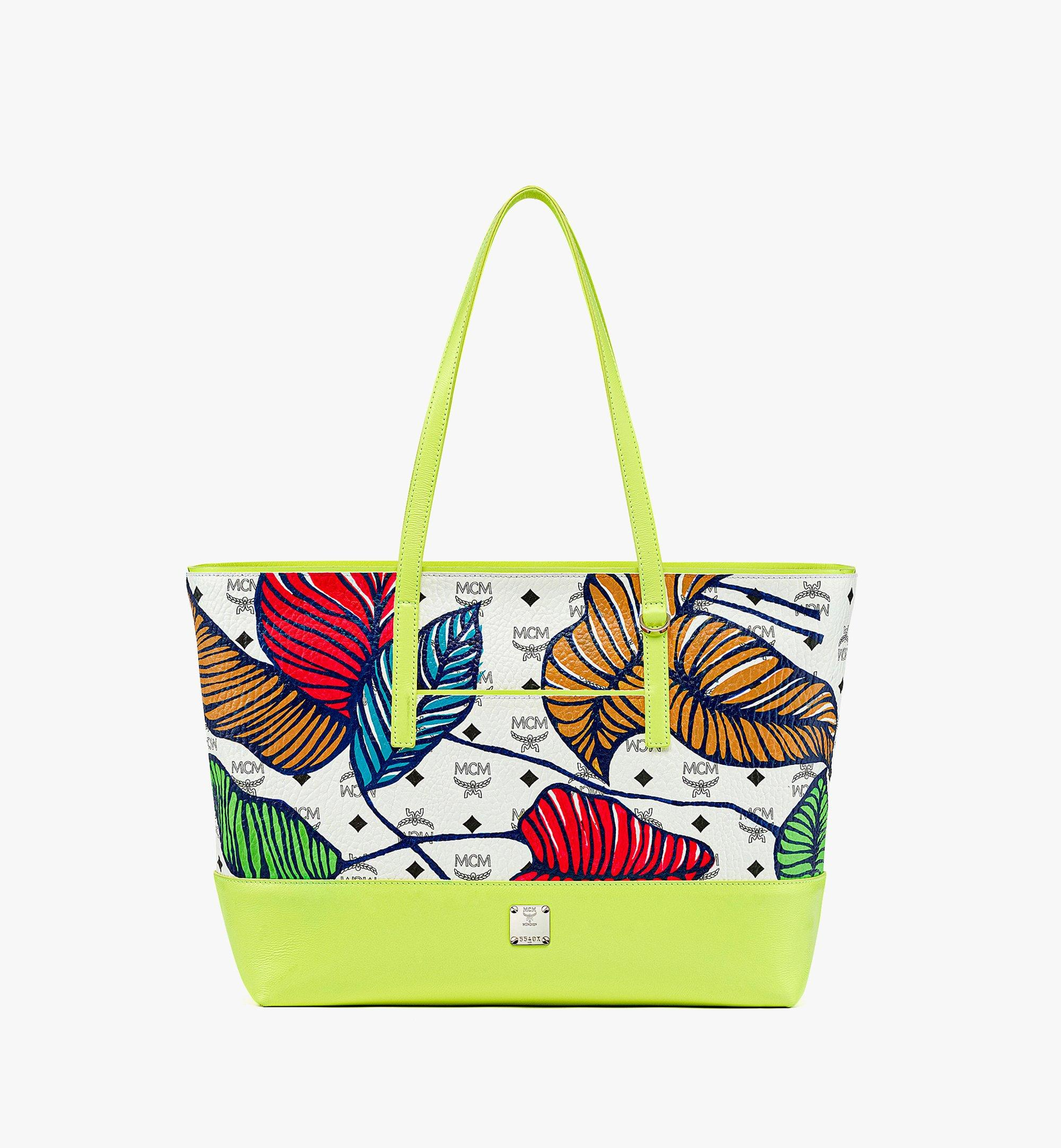 MCM Hawaii Upcycling Project Shopper in Visetos Leather Mix Multi MWPBSUP02WT001 Alternate View 1