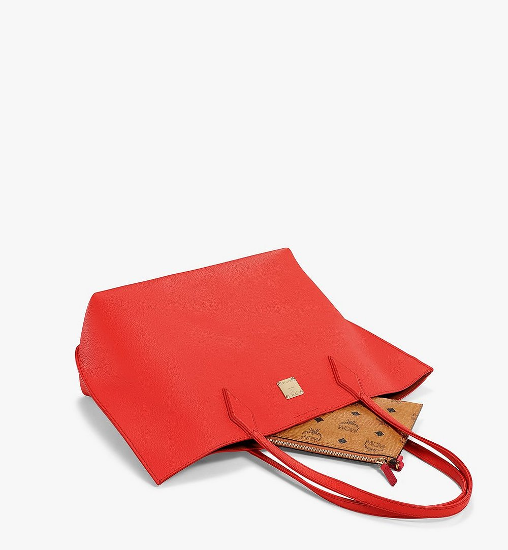 MCM Yris Shopper in Tani Leather Red MWPBSYS01R8001 Alternate View 2