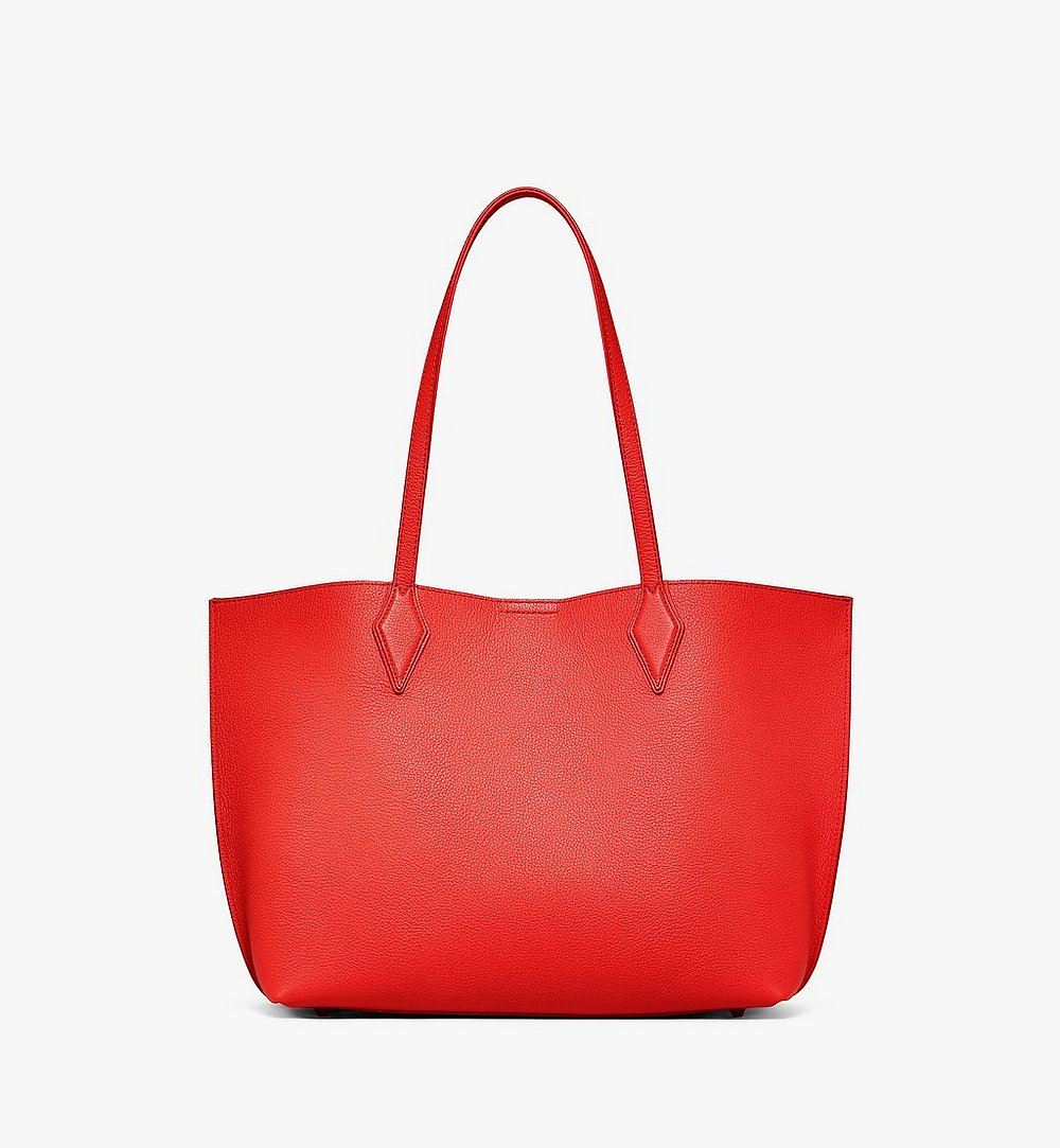MCM Yris Shopper in Tani Leather Red MWPBSYS01R8001 Alternate View 3