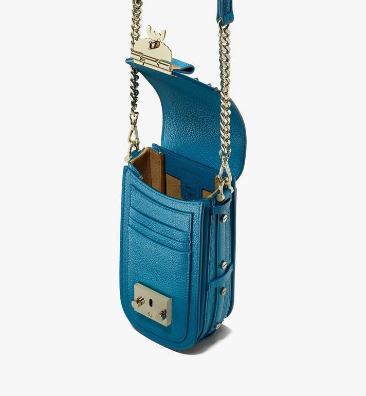 MCM Patricia Crossbody in Studded Park Ave Leather Blue MWR0SPA01JF001 Alternate View 4