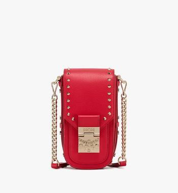 MCM Patricia Mini Crossbody in Studded Park Ave Leather Alternate View