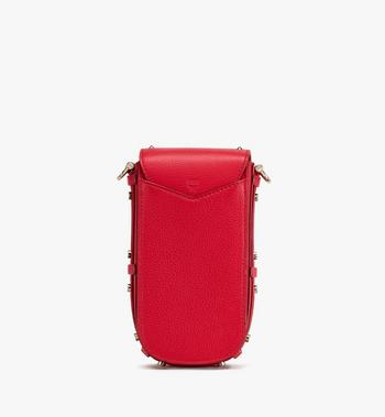 MCM Patricia Mini Crossbody in Studded Park Ave Leather Red MWR0SPA01R4001 Alternate View 3