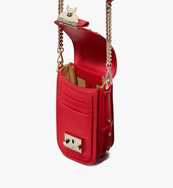 MCM Patricia Crossbody in Studded Park Ave Leather Red MWR0SPA01R4001 Alternate View 4