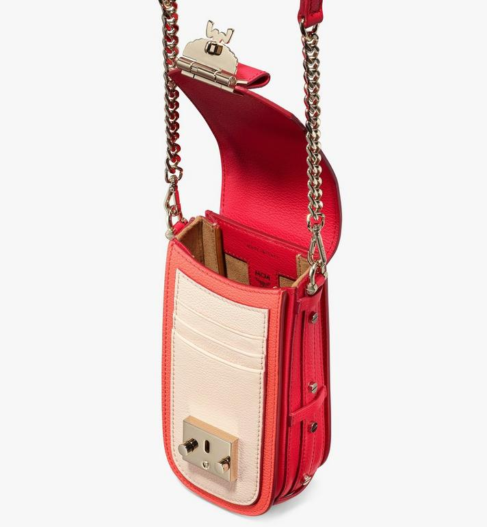 MCM Patricia Crossbody in Color Block Leather Red MWR0SPA03R4001 Alternate View 4