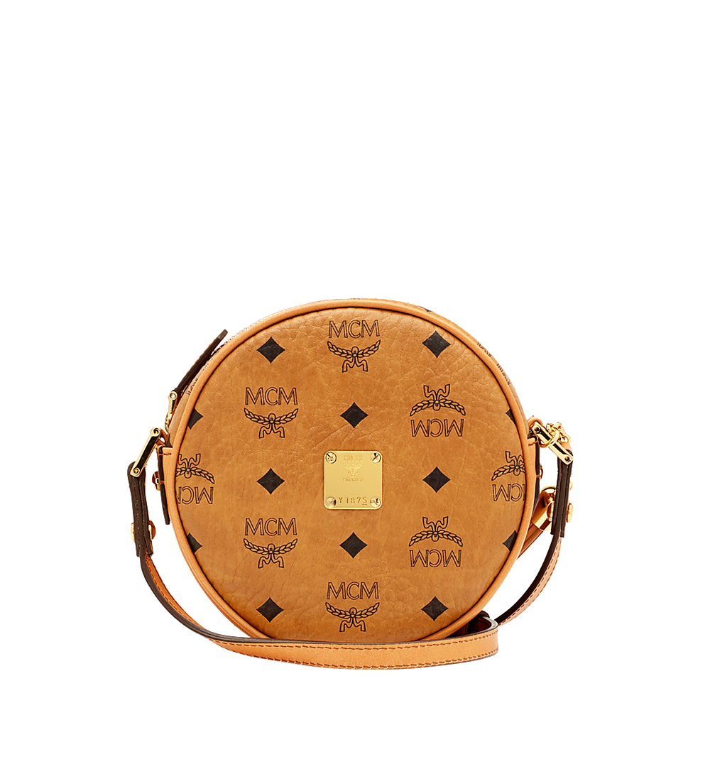 MCM Heritage Tambourine in Visetos Cognac MWR6AVI36CO001 Alternate View 1