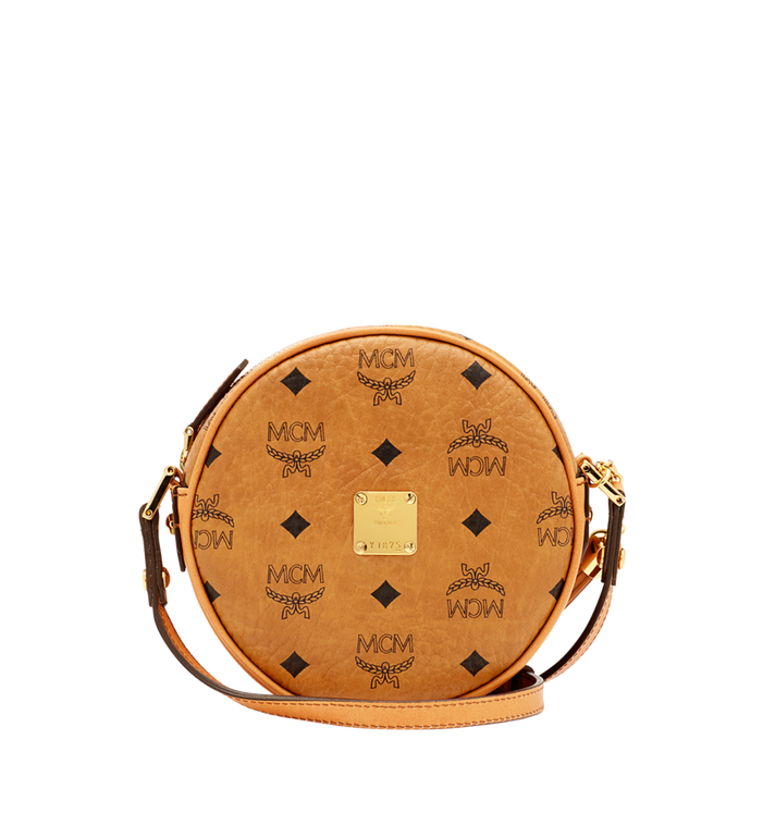 Medium Heritage Tamburin Tasche in Visetos Cognac | MCM® DE