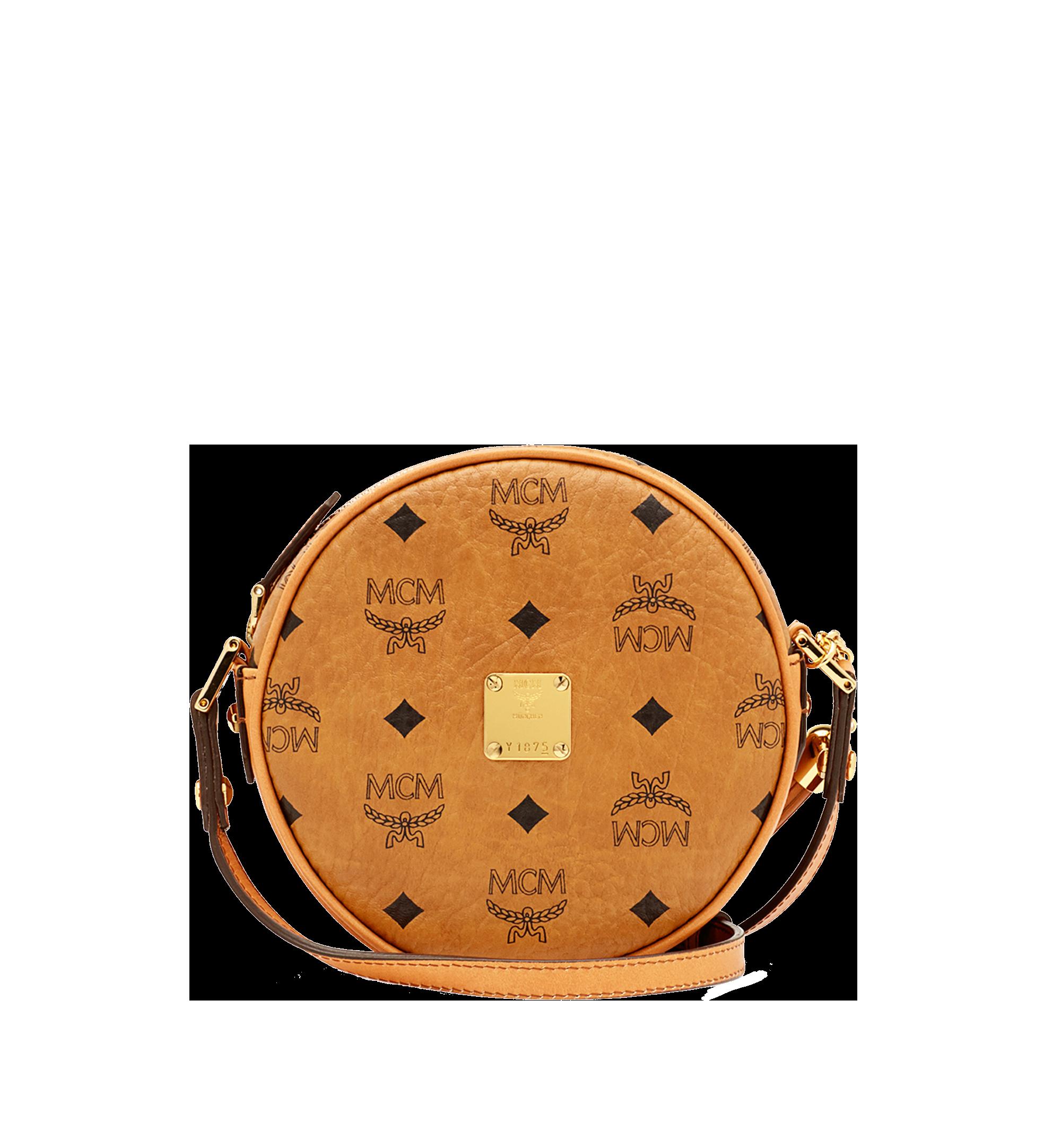 Medium Heritage Tamburin Tasche in Visetos Cognac | MCM® DE