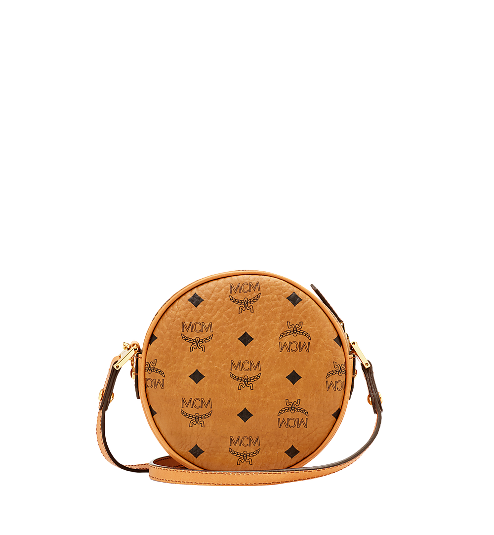 MCM Heritage Tambourine in Visetos Cognac MWR6AVI36CO001 Alternate View 3