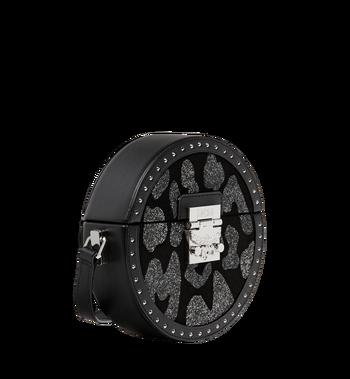 MCM Berlin Tambourine Crossbody in MCM Leopard Crystal MWR8ABN41BK001 AlternateView2