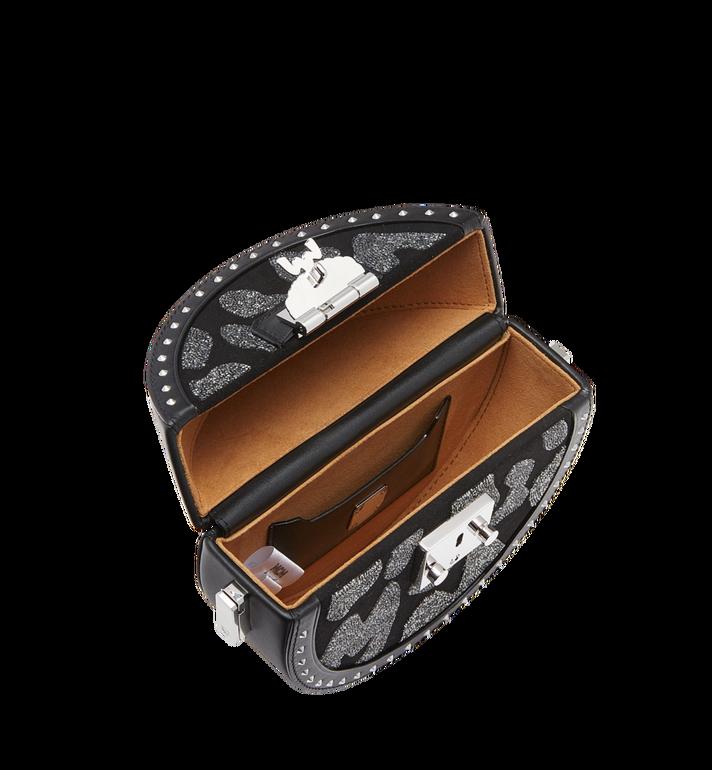 MCM Berlin Tambourine Crossbody in MCM Leopard Crystal MWR8ABN41BK001 AlternateView5