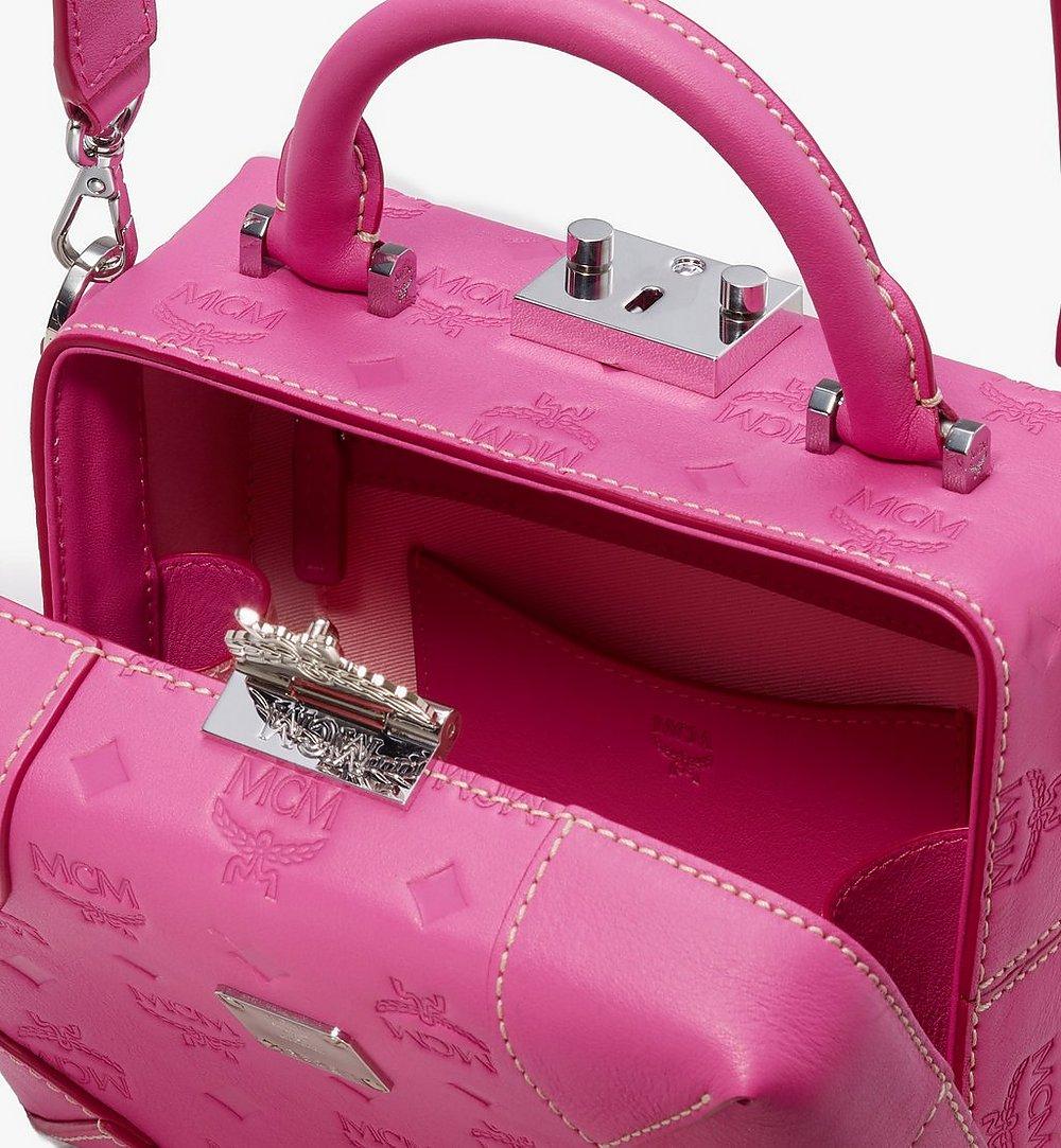 MCM Soft Berlin Crossbody Bag in Monogram Leather Pink MWR9ABF25QS001 Alternate View 3