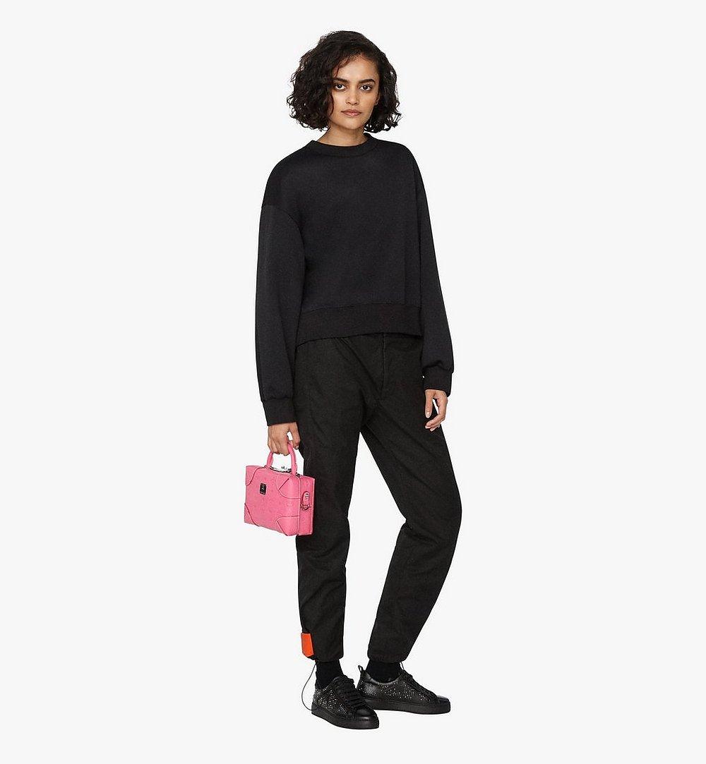 MCM Soft Berlin Crossbody Bag in Monogram Leather Pink MWR9ABF25QS001 Alternate View 2