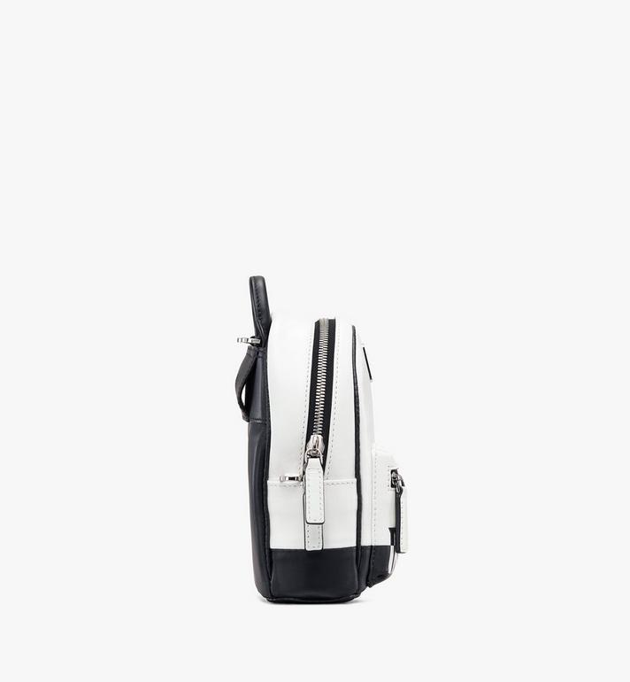 MCM Crossbody Minirucksack aus Leder mit kontrastierendem Logo  MWR9ACL11WT001 Alternate View 2