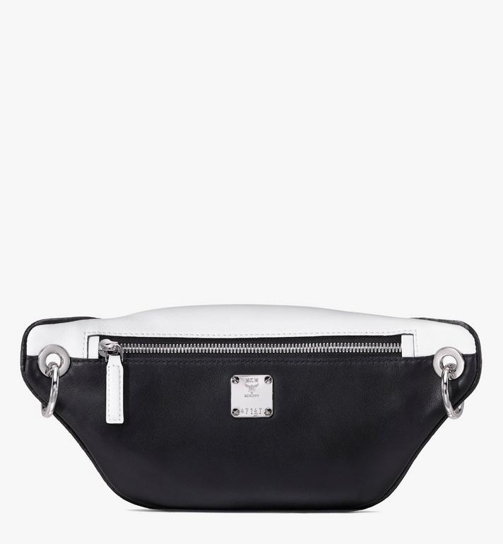 MCM Mini sac à dos et à bandoulière avec logo contrastant  MWR9ACL12WT001 Alternate View 2