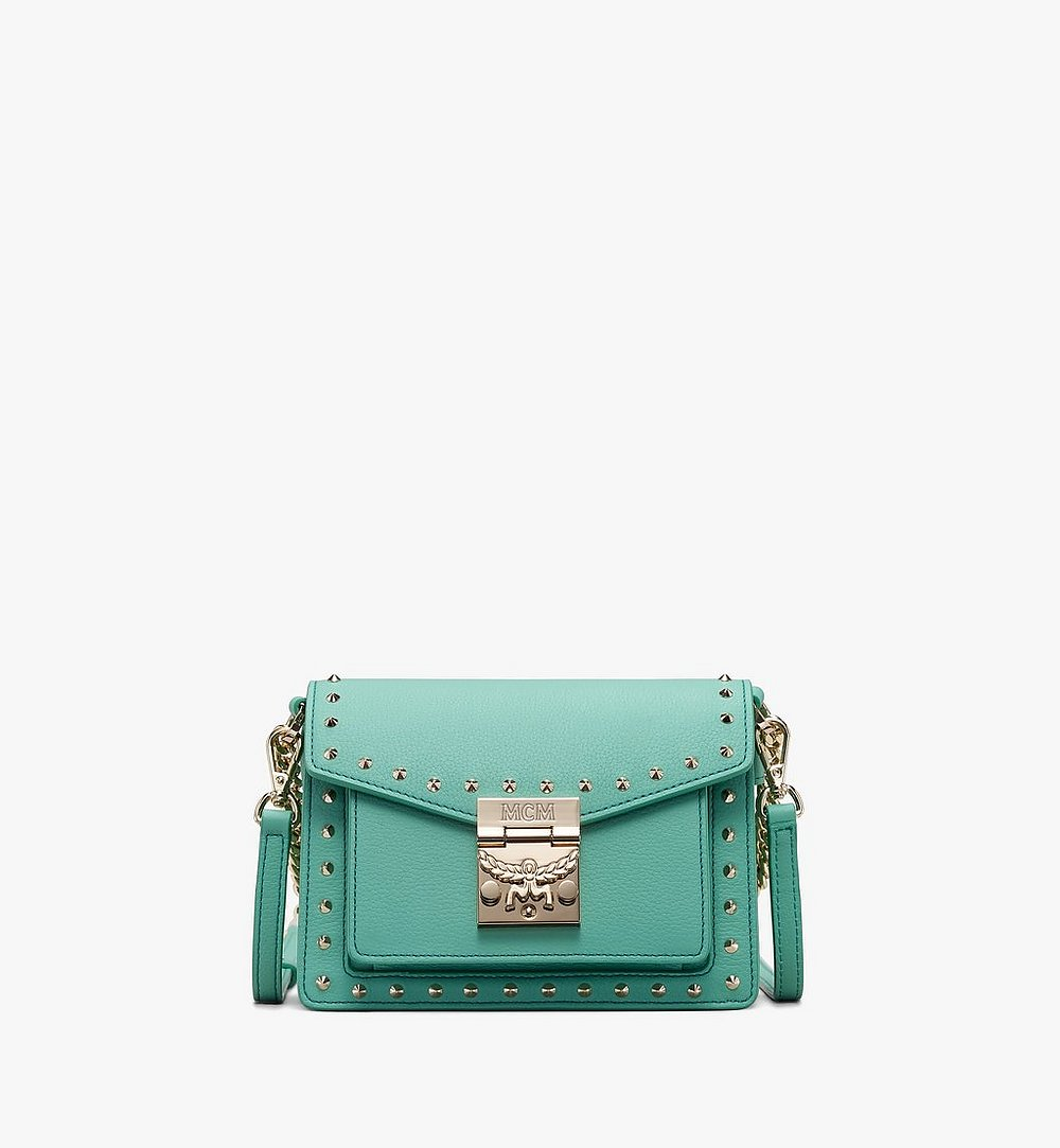 MCM Patricia Crossbody in Studded Park Avenue Leather Green MWR9APA13G7001 Alternate View 1