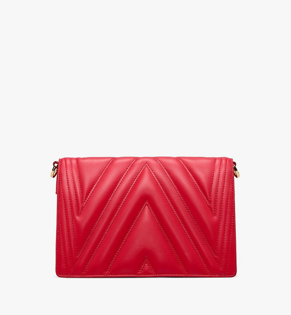 MCM Patricia Crossbody Bag in Quilted Leather Red MWR9APA86RU001 Alternate View 2
