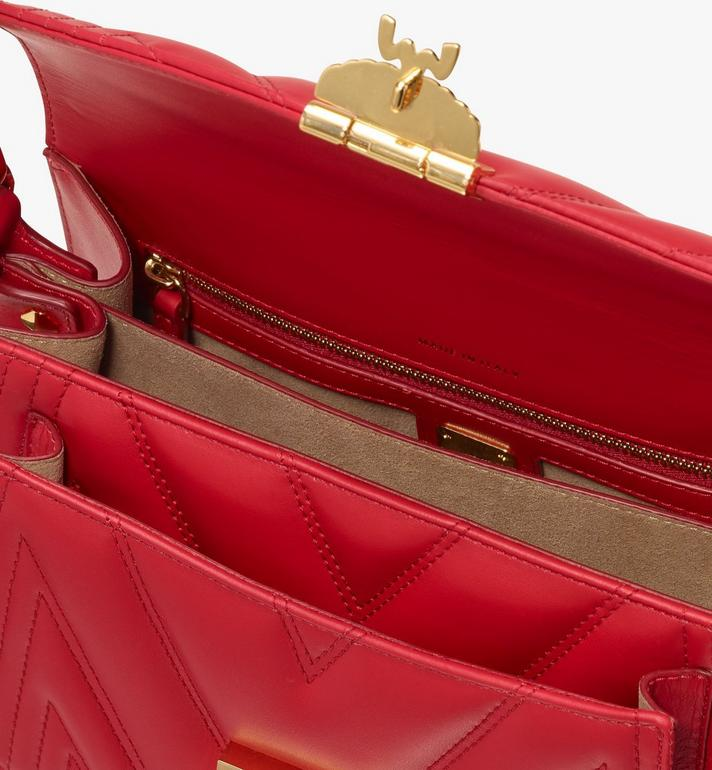 MCM Patricia Crossbody Bag in Quilted Leather Red MWR9APA86RU001 Alternate View 4