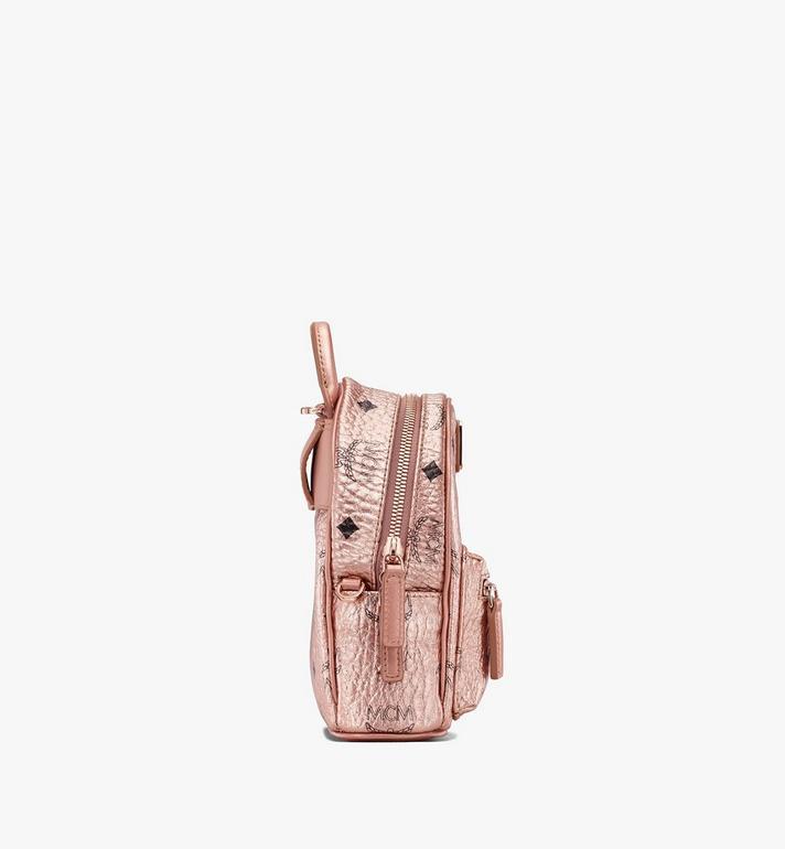 MCM Mini sac à dos et à bandoulière Essential en Visetos Alternate View 2