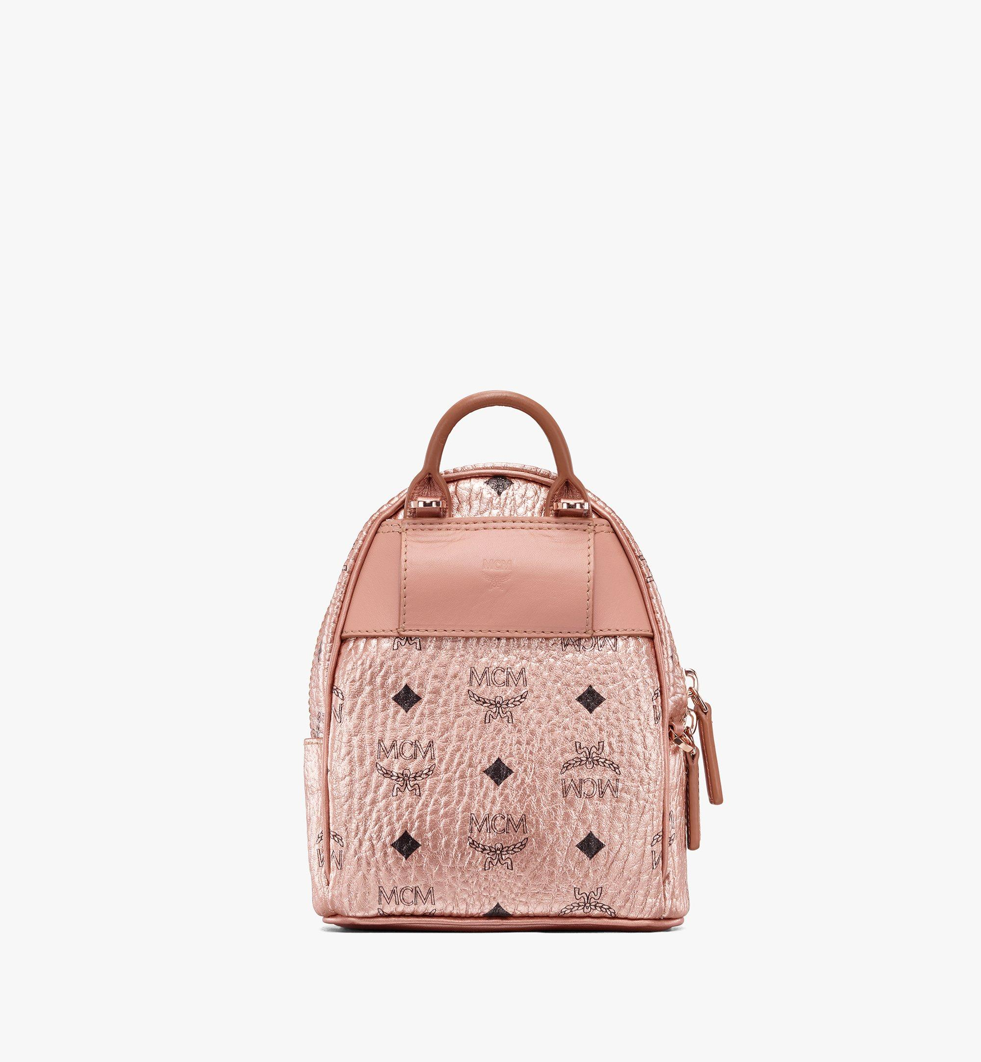 Mini Essential Mini Crossbody Backpack in Visetos Champagne