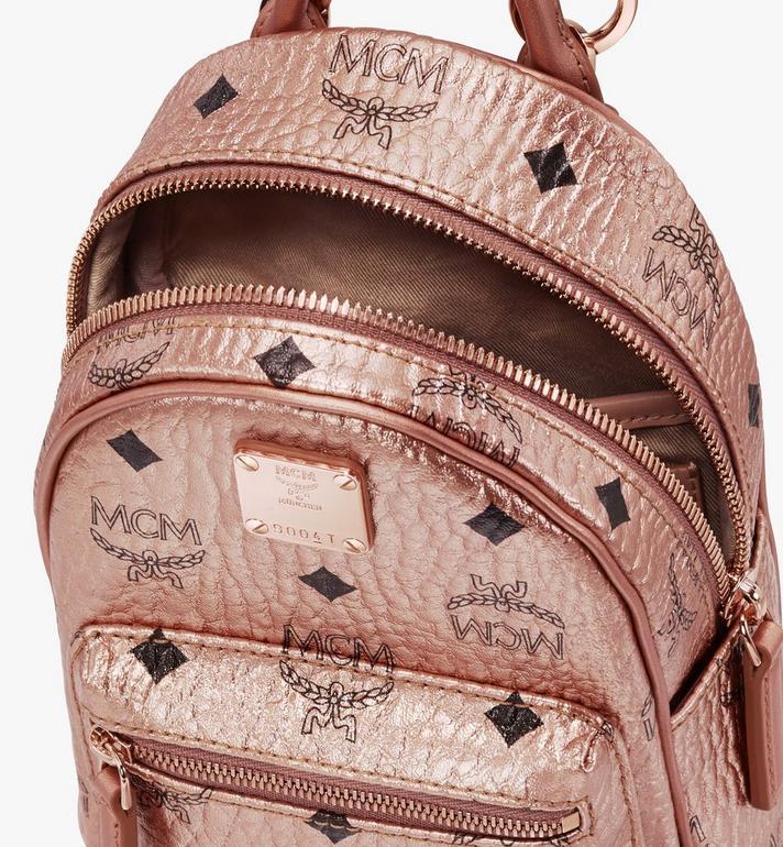 MCM Mini sac à dos et à bandoulière Essential en Visetos Alternate View 4