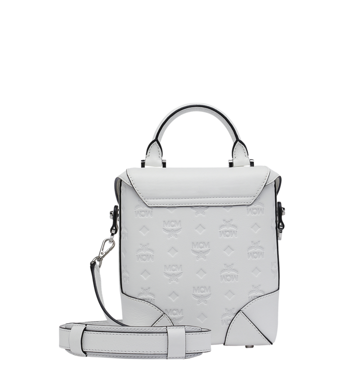 MCM Soft Berlin Crossbody in Monogram Leather White MWR9SBF24WT001 Alternate View 4