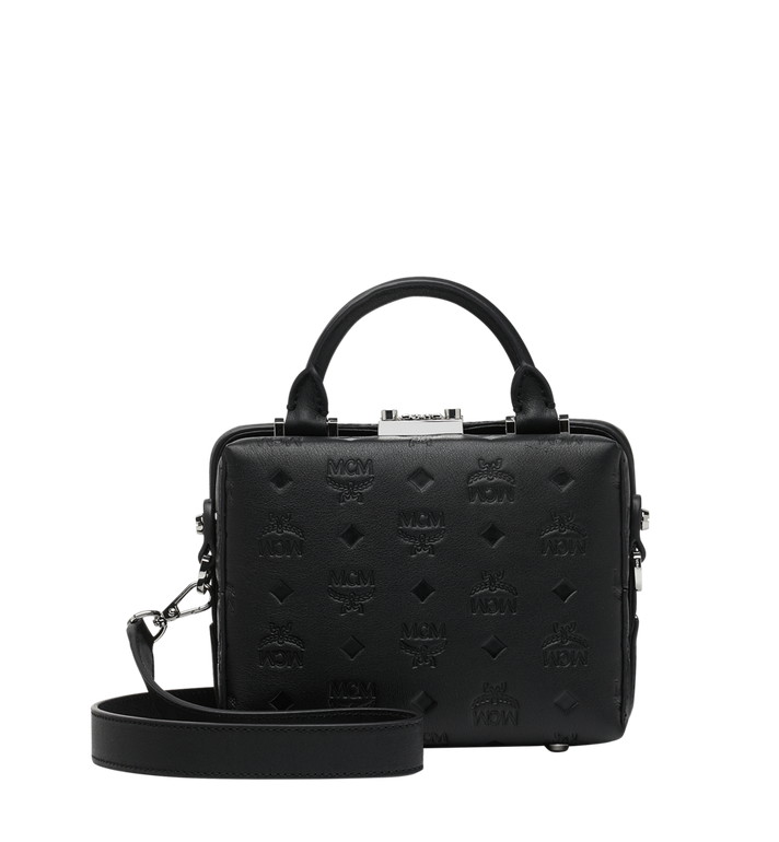 MCM Soft Berlin Crossbody Bag in Monogram Leather Black MWR9SBF25BK001 Alternate View 4