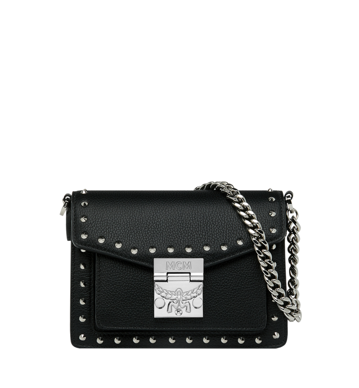 MCM Patricia Crossbody in Studded Outline Leather MWR9SPA13BK001 AlternateView