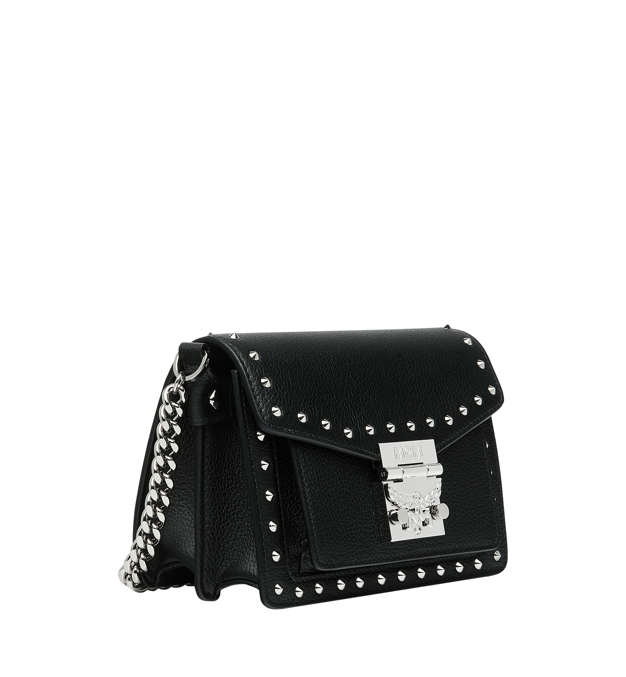 MCM Patricia Crossbody in Studded Outline Leather Black MWR9SPA13BK001 Alternate View 2