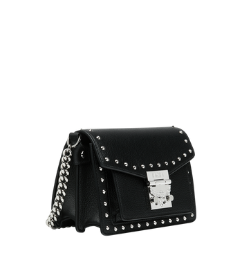 MCM Patricia Crossbody in Studded Outline Leather MWR9SPA13BK001 AlternateView2