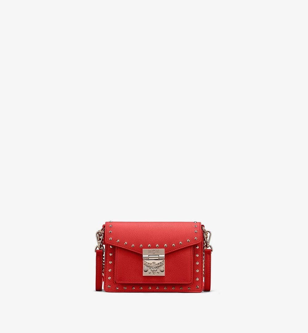 MCM Patricia Crossbody in Studded Park Ave Leather Red MWR9SPA13R4001 Alternate View 1