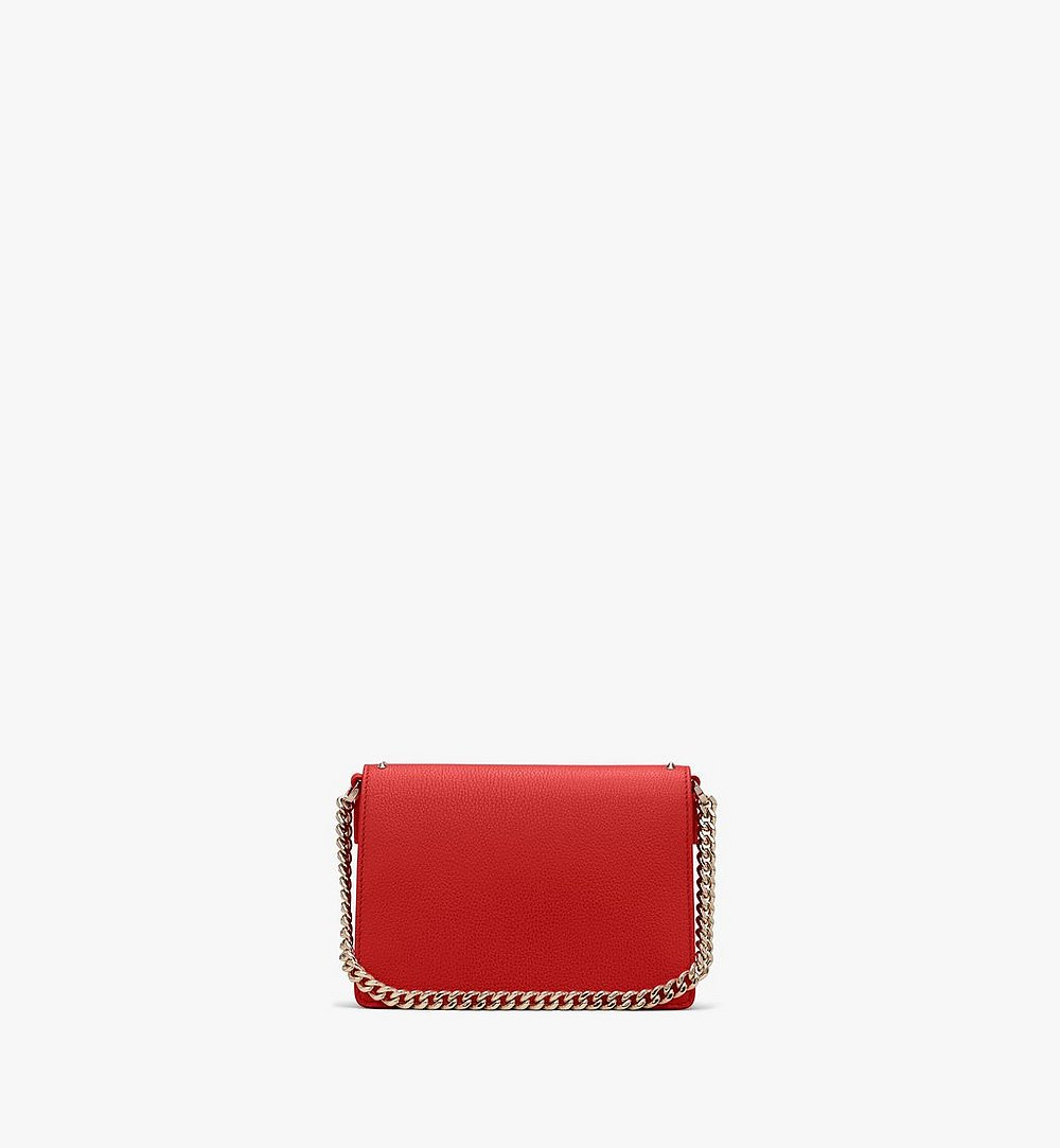 MCM Patricia Crossbody in Studded Park Ave Leather Red MWR9SPA13R4001 Alternate View 2