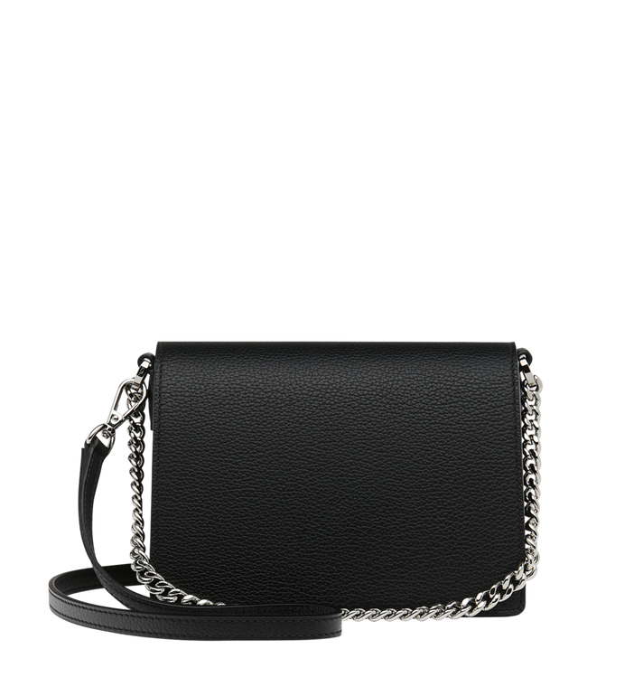 MCM Patricia Crossbody in Grained Leather Black MWR9SPA17BK001 Alternate View 4