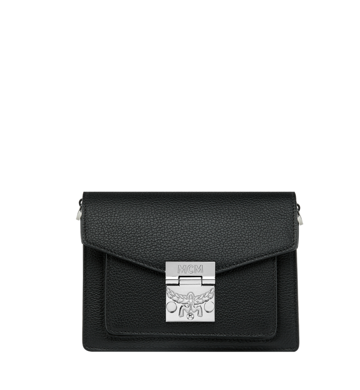 MCM Patricia Crossbody in Grained Leather Black MWR9SPA17BK001 Alternate View 6