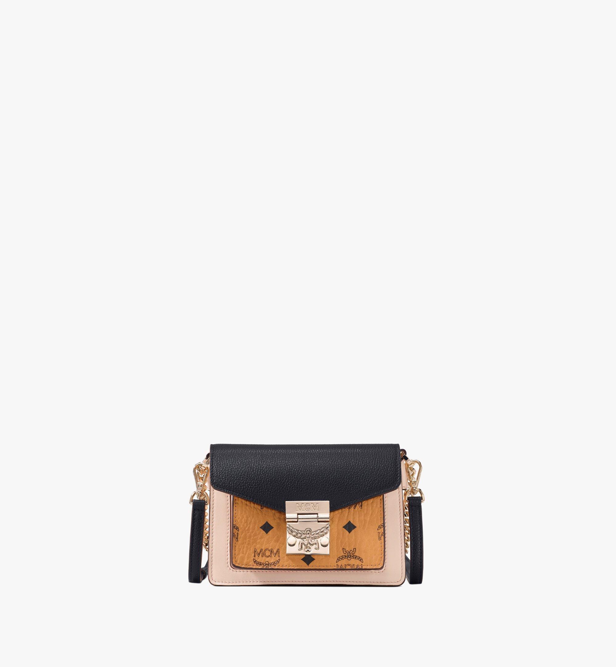 Mini Patricia Colorblock Crossbody Tasche in Visetos Black