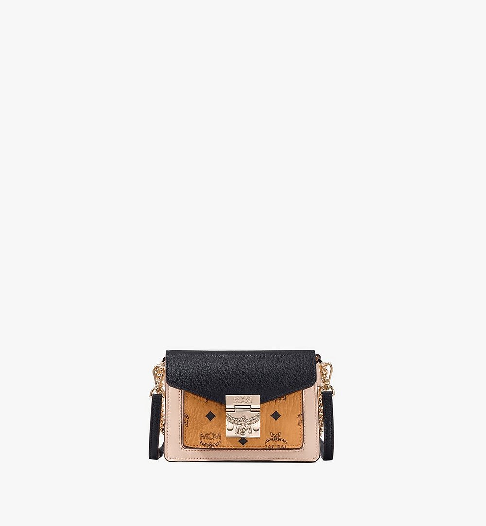 MCM Patricia Crossbody in Color Block Visetos Black MWR9SPA28BK001 Alternate View 1