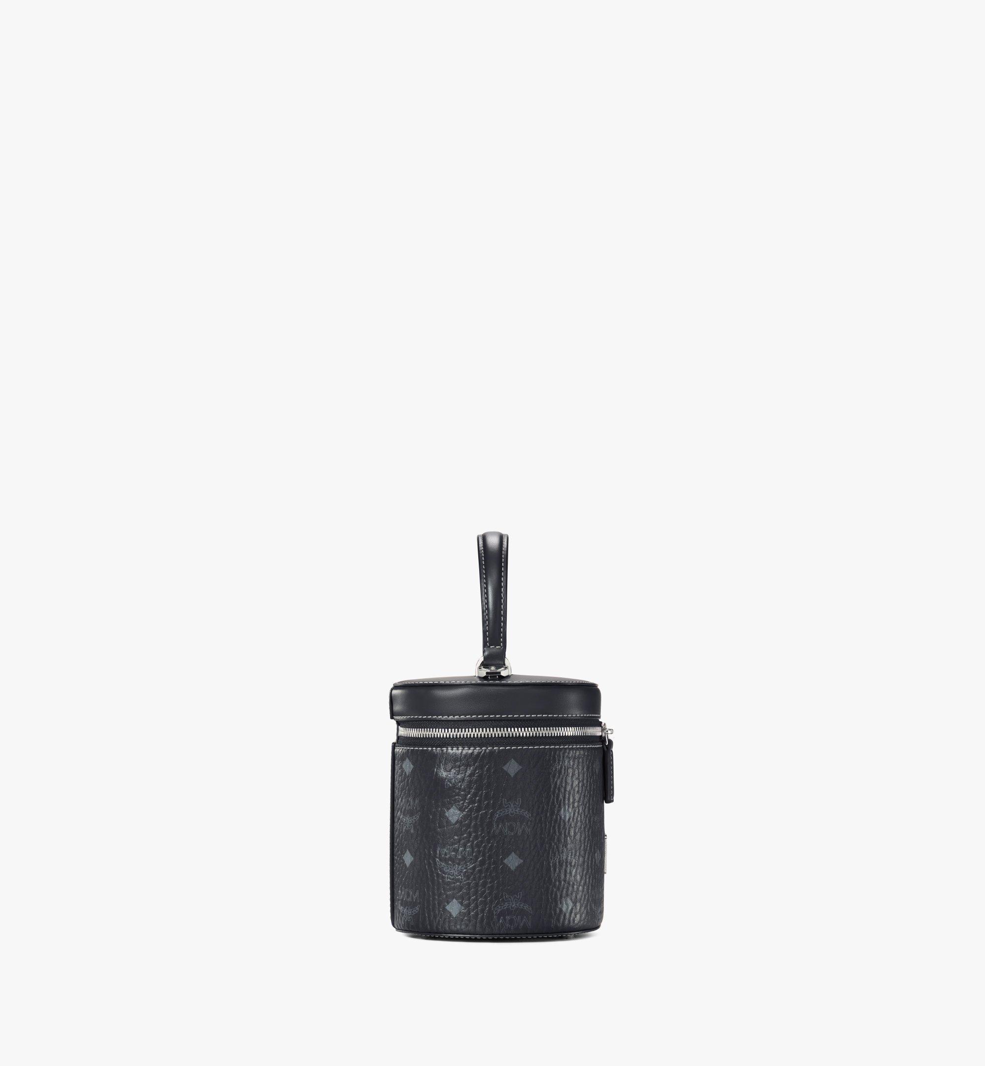 MCM Zylinderförmige Crossbody-Tasche in Visetos Black MWRAACG01BK001 Noch mehr sehen 1